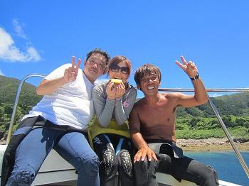 川平遠征ダイブ