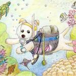 ダイビング犬