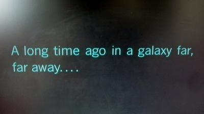 遠い昔はるか銀河の彼方で