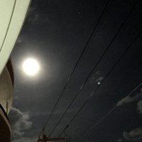 満月とオリオン座
